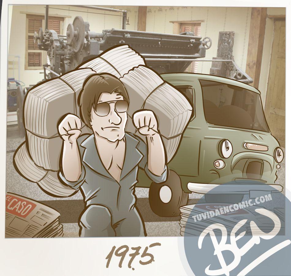 Ilustración personalizada - Composición - Regalo de Jubilación Camionero - Caricatura personalizada - tuvidaencomic.com - BEN 2