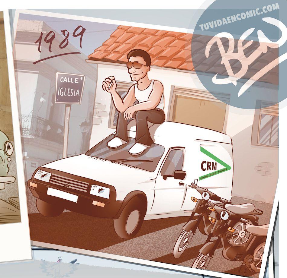 Ilustración personalizada - Composición - Regalo de Jubilación Camionero - Caricatura personalizada - tuvidaencomic.com - BEN 3