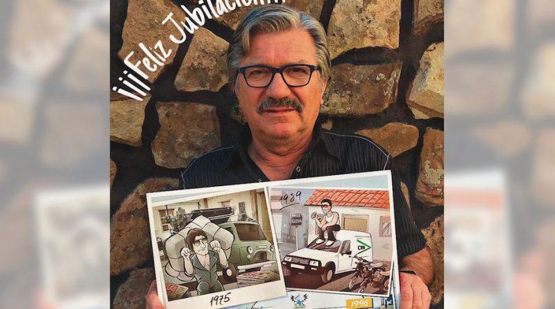 Ilustración personalizada - Composición - Regalo de Jubilación Camionero - Caricatura personalizada - tuvidaencomic.com - BEN - Testimonio 2