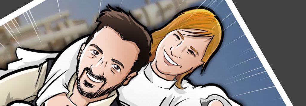 Ilustración personalizada - Las otras aventuras de Han Solo y Leia - Caricatura personalizada - BEN - tuvidaencomic.com - 0