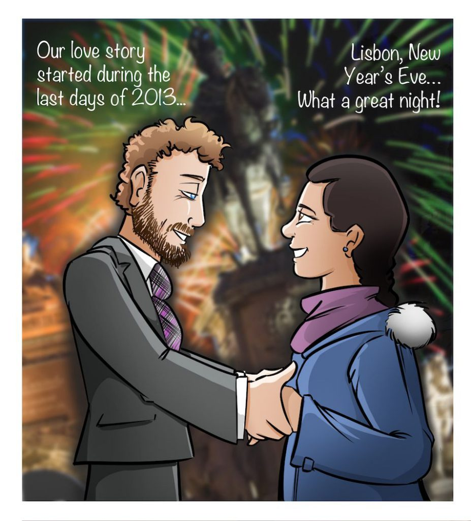 Cómic Personalizado - Historias de amor en viñetas - Caricatura personalizada - tuvidaencomic.com - BEN - 0C