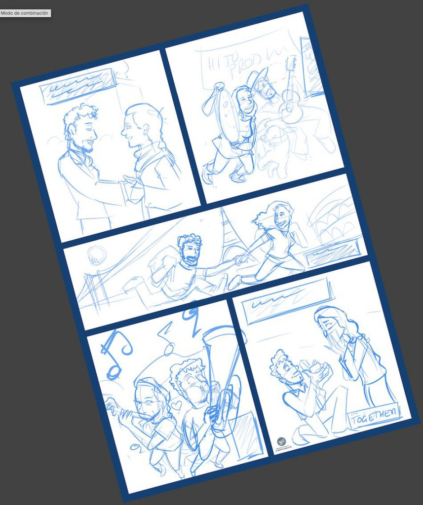 Cómic Personalizado - Historias de amor en viñetas - Caricatura personalizada - tuvidaencomic.com - BEN - 1