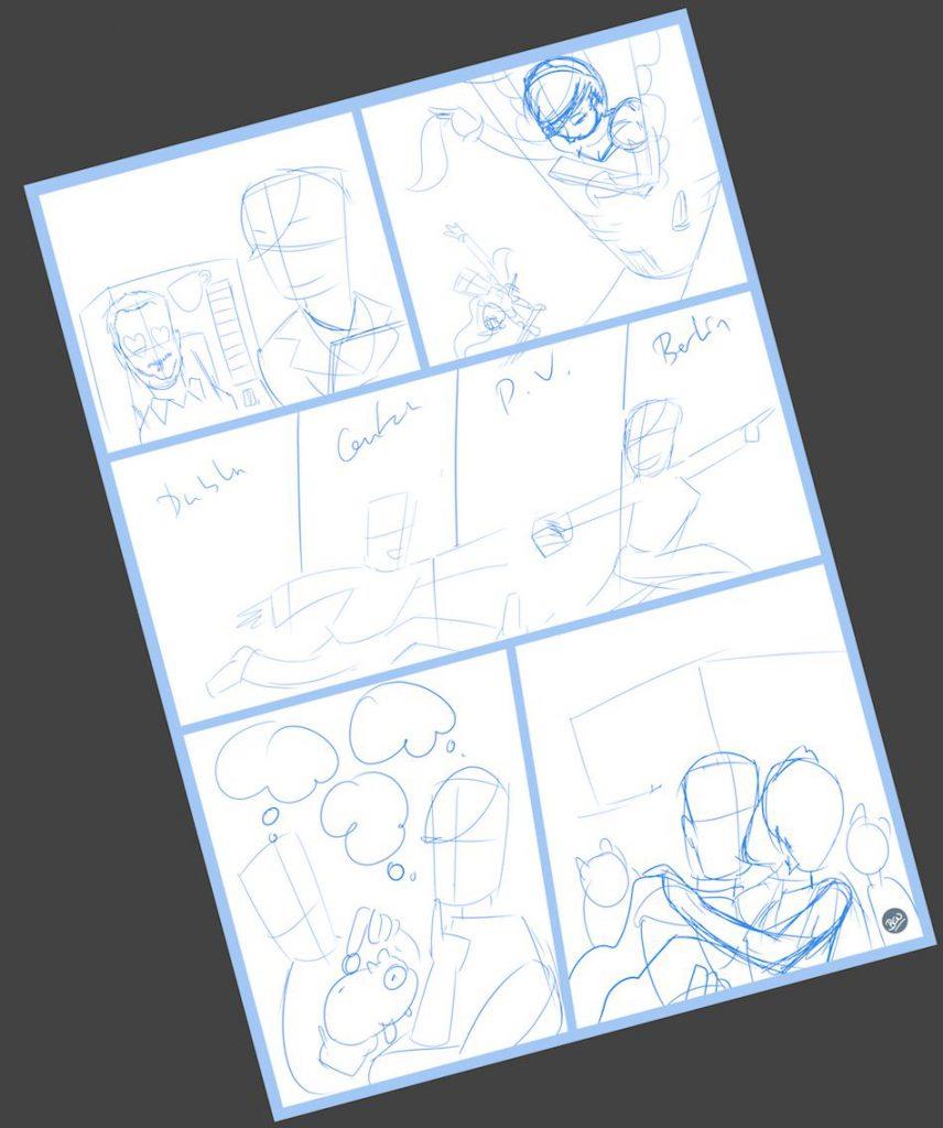 Cómic personalizado - Una historia de amor, de esas con caballeros, princesas... y gatos - Ilustración - Caricatura personalizada - tuvidaencomic.com - BEN - 1