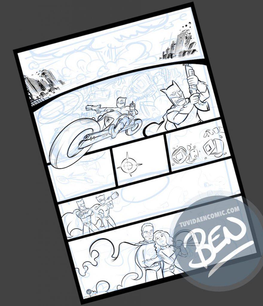 Cómic personalizado - Una historia de amor, superhéroes y máquinas de diagnóstico que toman conciencia de sí mismas - Ilustración - Caricatura personalizada - tuvidaencomic.com - BEN - 2