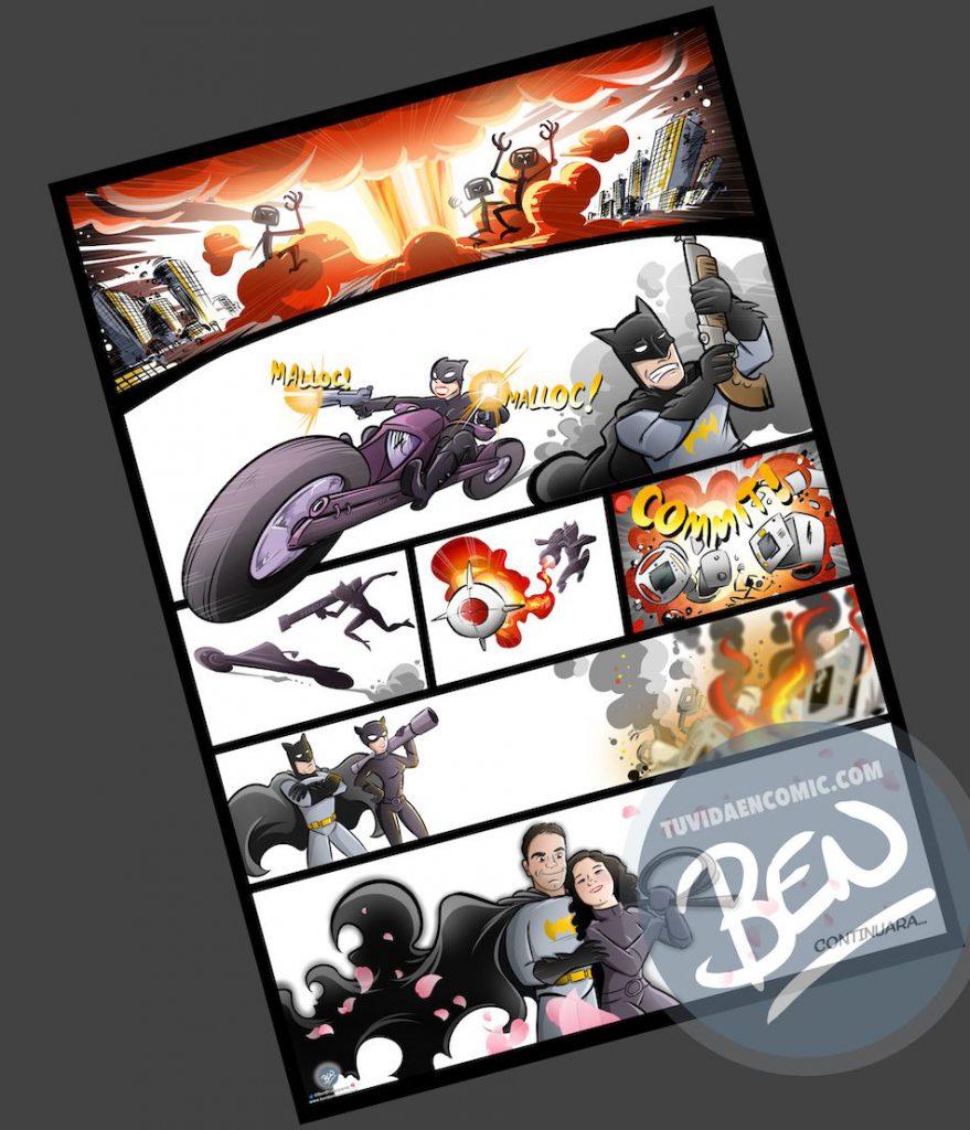 Cómic personalizado - Una historia de amor, superhéroes y máquinas de diagnóstico que toman conciencia de sí mismas - Ilustración - Caricatura personalizada - tuvidaencomic.com - BEN - 3