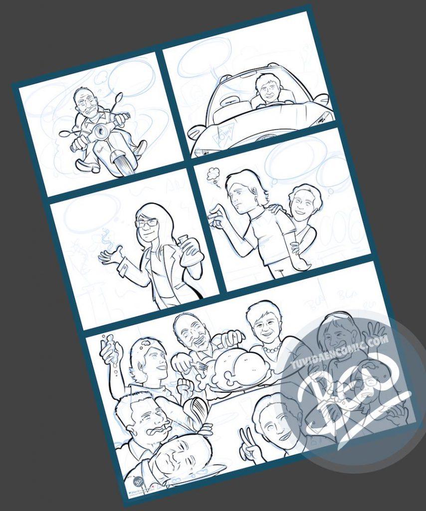 Cómic personalizado - Preparando la Cena de Navidad - Caricatura personalizada - tuvidaencomic.com - BEN - 2