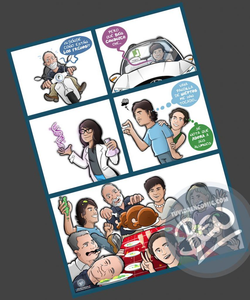 Cómic personalizado - Preparando la Cena de Navidad - Caricatura personalizada - tuvidaencomic.com - BEN - 3