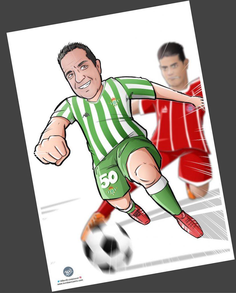 Ilustración personalizada - Viviendo los colores - fútbol - Betis - Caricatura Personalizada - www.tuvidaencomic.com - BEN - 3