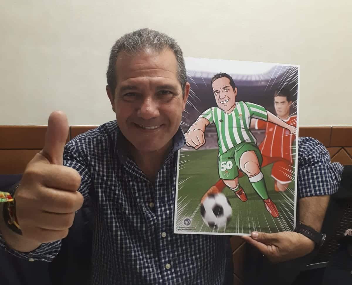 Ilustración personalizada - Viviendo los colores - fútbol - Betis - Caricatura Personalizada - www.tuvidaencomic.com - BEN - Testimonio