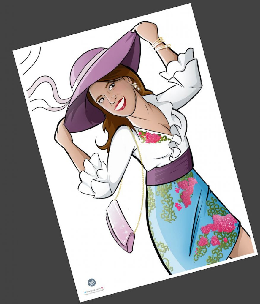 Ilustración personalizada - Todo glamour, que nos vamos de boda - Caricatura Personalizada - tuvidaencomic.com - BEN - 3