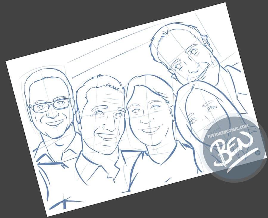 Ilustración personalizada - Despidiendo a una amiga que además es compañera de trabajo - Caricatura Personalizada - tuvidaencomic.com - BEN - 0