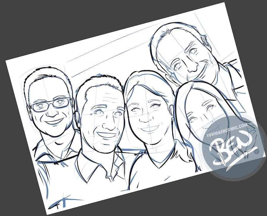 Ilustración personalizada - Despidiendo a una amiga que además es compañera de trabajo - Caricatura Personalizada - tuvidaencomic.com - BEN - 1