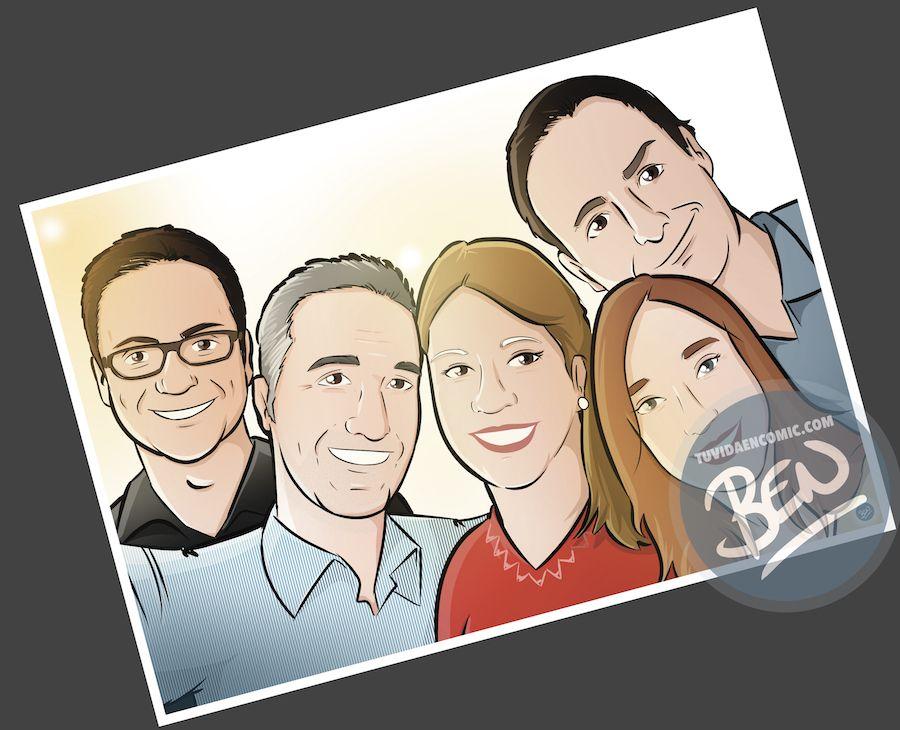 Ilustración personalizada - Despidiendo a una amiga que además es compañera de trabajo - Caricatura Personalizada - tuvidaencomic.com - BEN - 3