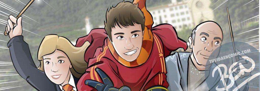 Ilustración personalizada - Regalo perfecto para fans de Harry Potter - Caricatura Personalizada - www.tuvidaencomic.com - BEN - 0