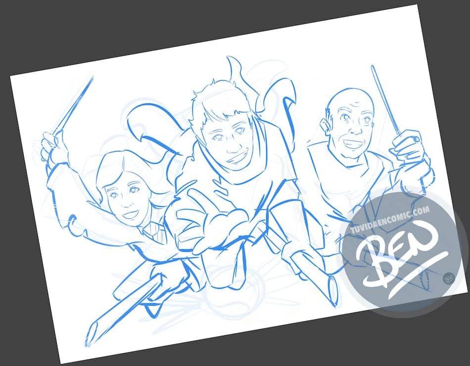 Ilustración personalizada - Regalo perfecto para fans de Harry Potter - Caricatura Personalizada - www.tuvidaencomic.com - BEN - 1