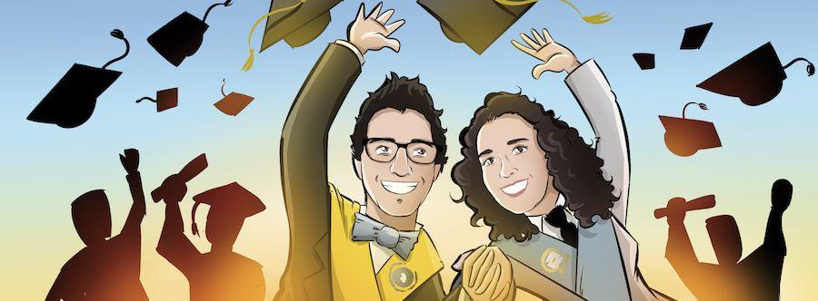 """Cómic personalizado - """"La aventura de vida de Juan y Auri"""" - Regalo de boda - www.tuvidaencomic.com - BEN - Regalo de boda original - 5"""