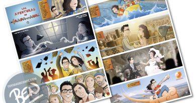 """Cómic personalizado - """"La aventura de vida de Juan y Auri"""" - Regalo de boda - www.tuvidaencomic.com - BEN - Regalo de boda original - 7"""