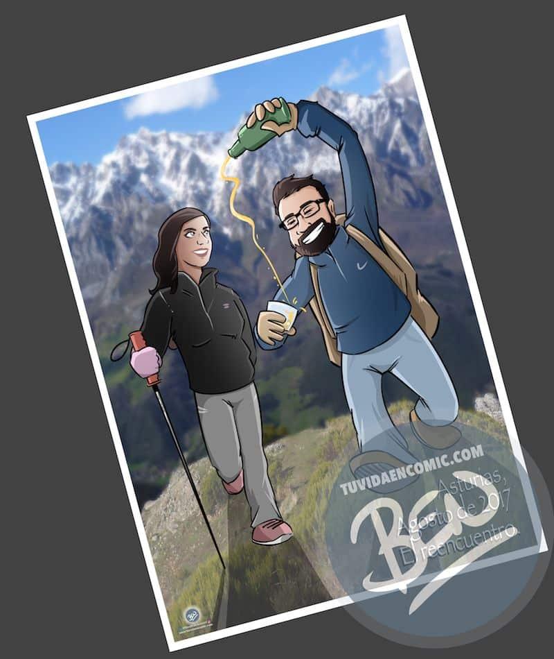 Cómic personalizado - Nuestra historia de amor en cinco viñetas - Ilustración - Caricatura personalizada - www.tuvidaencomic.com - BEN - 1