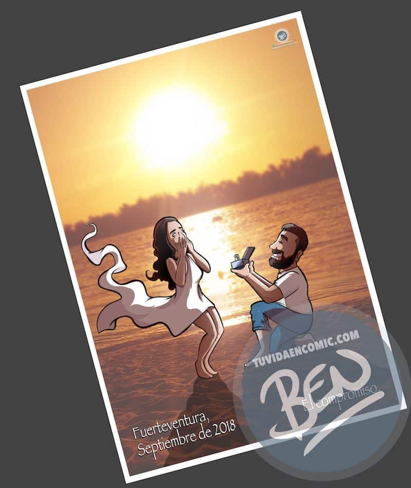 Cómic personalizado - Nuestra historia de amor en cinco viñetas - Ilustración - Caricatura personalizada - www.tuvidaencomic.com - BEN - 3
