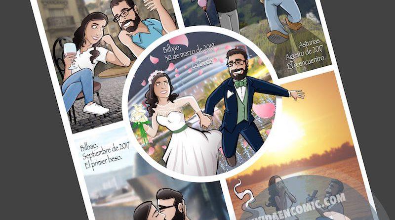 Cómic personalizado - Nuestra historia de amor en cinco viñetas - Ilustración - Caricatura personalizada - www.tuvidaencomic.com - BEN - 4