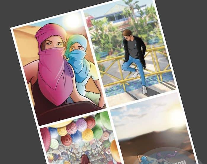 """Cómic personalizado - """"Recordando nuestros viajes"""" - Caricatura personalizada - www.tuvidaencomic.com - BEN - 5"""