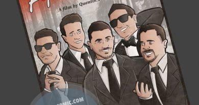 Ilustración grupal personalizada - Amigos a lo Tarantino - Caricatura de grupo Personalizada - www.tuvidaencomic.com - BEN - 4