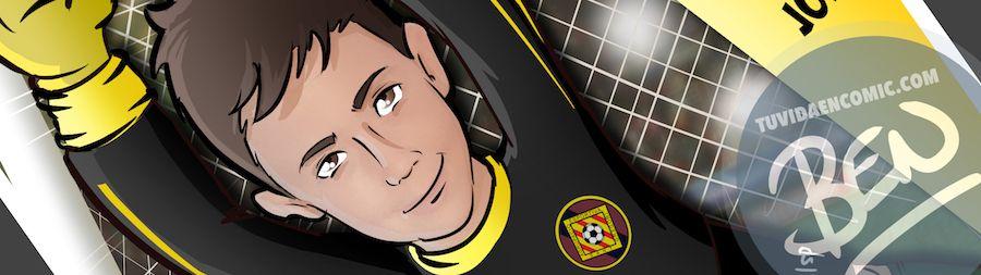 Ilustración infantil - Un regalo para el portero del equipo - Caricatura Personalizada - www.tuvidaencomic.com - BEN - 0
