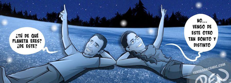 Cómic personalizado - Amores de otro mundo - Regalo de anivesario - tuvidaencomic.com - BEN - Ilustración - Caricatura personalizada - 5