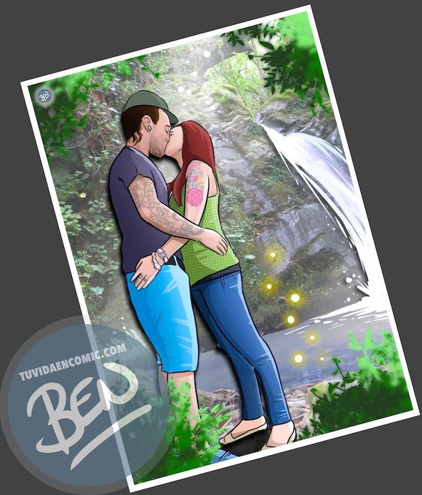 """Composición de Ilustraciones - """"Recordando nuestra vida juntos"""" - Caricatura personalizada - 2"""