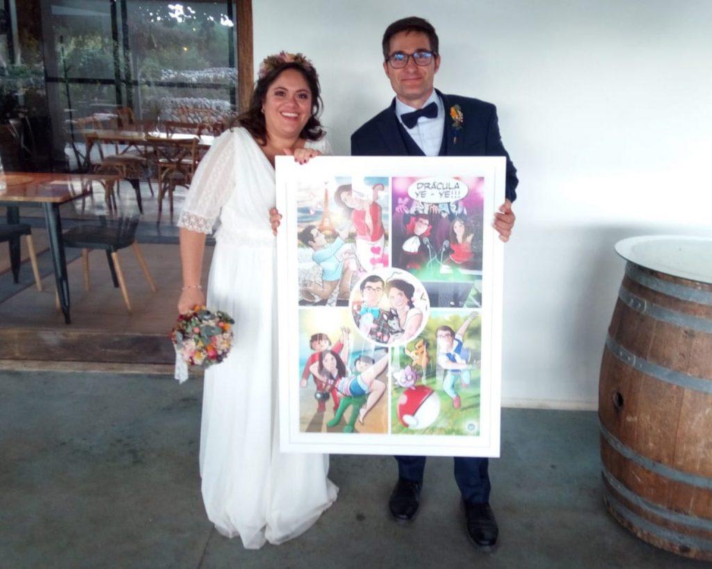 """Composición de Ilustraciones - """"Regalo de boda - Nuestra vida juntos"""" - Caricatura personalizada - www.tuvidaencomic.com - BEN - TESTIMONIO"""