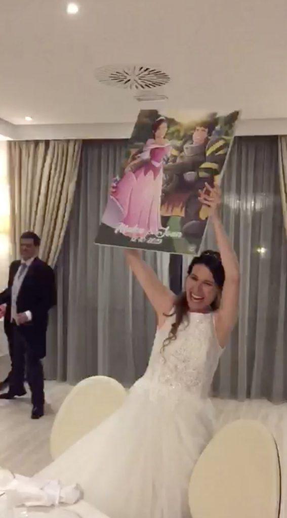Ilustración personalizada - Princesas y Guerreros - Caricatura personalizada - www.tuvidaencomic.com - BEN - Regalo de boda original - TESTIMONIO - 3