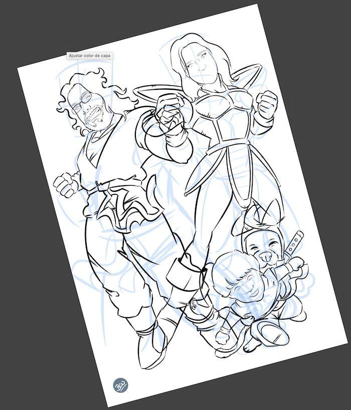 Una familia de Súper Guerreros - www.tuvidaencomic.com - BEN - Caricatura Personalizada - Cómic Personalizado - 2
