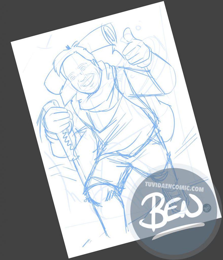 Caricatura personalizada - Regalo original entre amigos - www.tuvidaencomic.com - BEN - 1