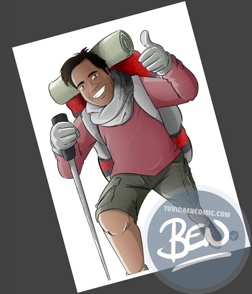 Caricatura personalizada - Regalo original entre amigos - www.tuvidaencomic.com - BEN - 3