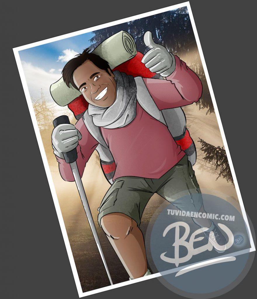 Caricatura personalizada - Regalo original entre amigos - www.tuvidaencomic.com - BEN - 4