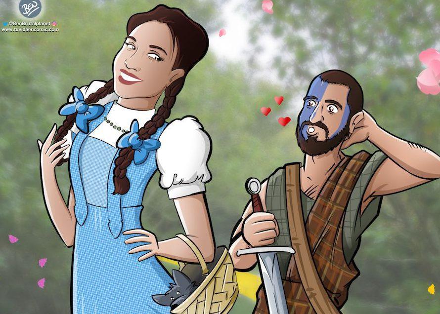 Ilustración para una curiosa pareja - Caricatura personalizada - www.tuvidaencomic.com - Tu Vida en Cómic - Regalo Original - BEN - 5