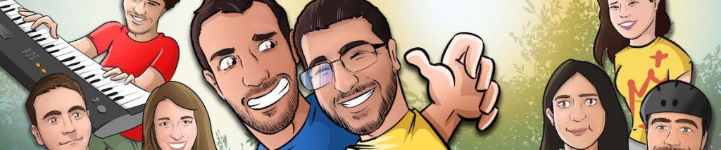 Todos tus amigos en una Caricatura grupal - www.tuvidaencomic.com - BEN - Carcatura personalizada - 0