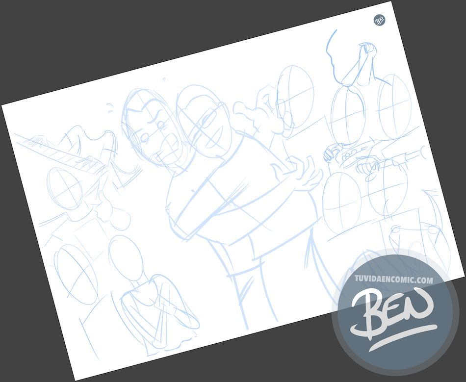 Todos tus amigos en una Caricatura grupal - www.tuvidaencomic.com - BEN - Carcatura personalizada - 1