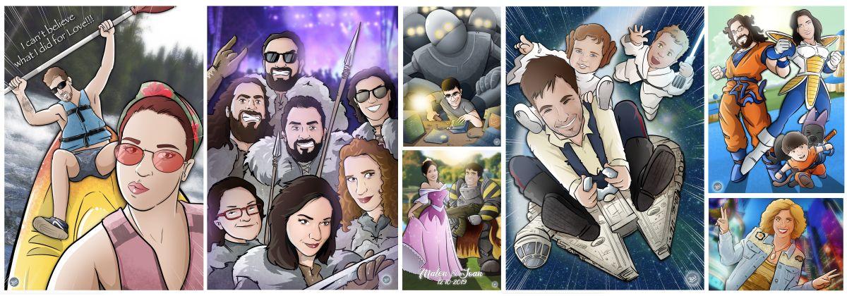 Banner-Caricaturas-personalizadas-tuvidaencomic-com-Ejemplos