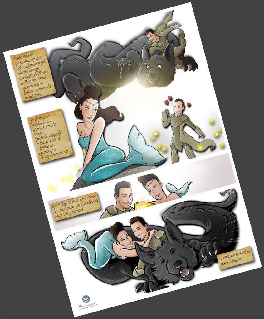 Cómic personalizado - Una boda de cuento - www.tuvidaencomic.com - Tu Vida en Cómic - Caricatura personalizada - BEN - 3