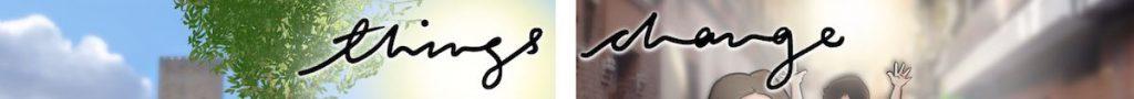 """Composición de Ilustraciones - """"Things Change"""" - Regalo personalizado familiar - www.tuvidaencomic.com - Tu Vida en Cómic - Regalo Personalizado - BEN - Caricatura personalizada - 0"""