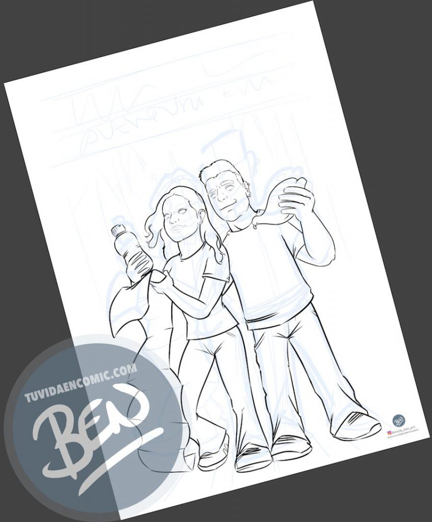 Ilustración - Aventura en Nueva York - caricatura personalizada - www.tuvidaencomic.com - Tu Vida en Cómic - BEN - Regalo original - 2