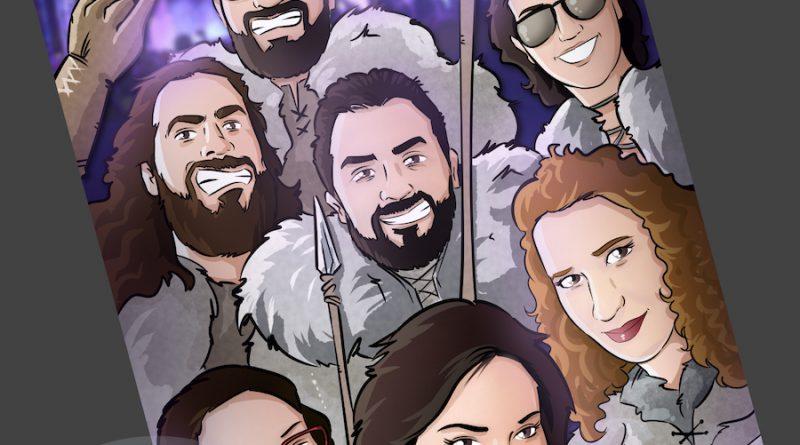 Ilustración Grupal - Amigos que han convertido juntos su vida en cómic - www.tuvidaencomic.com - BEN - Regalo personalizado - 3