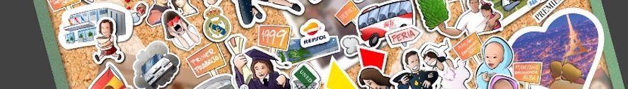 Ilustración - Una vida en 35 pegatinas - Stickers personalizados - www.tuvidaencomic.com - BEN - Tu Vida en Cómic - Caricatura personalizada - sticker - 0 copia
