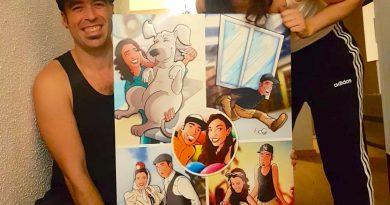 """Composición de ilustraciones """"Cosas que nos unieron"""" - Regalo romántico personalizado - regalos personalizados - www.tuvidaencomic.com - BEN - Caricaturas personalizadas - testimonio 2"""