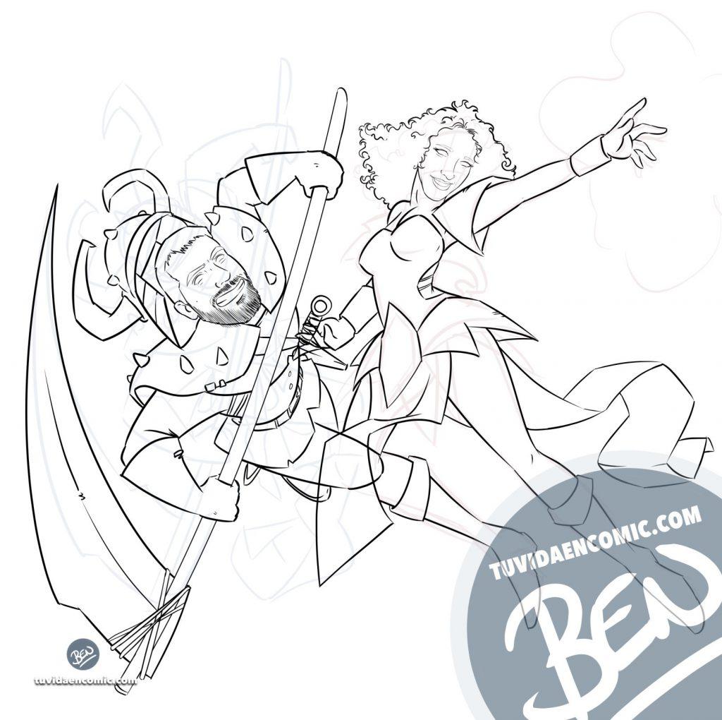 Tapete personalizado para tus juegos de mesa - Caricatura Personalizada - www.tuvidaencomic.com - Ilustración - BEN - 2