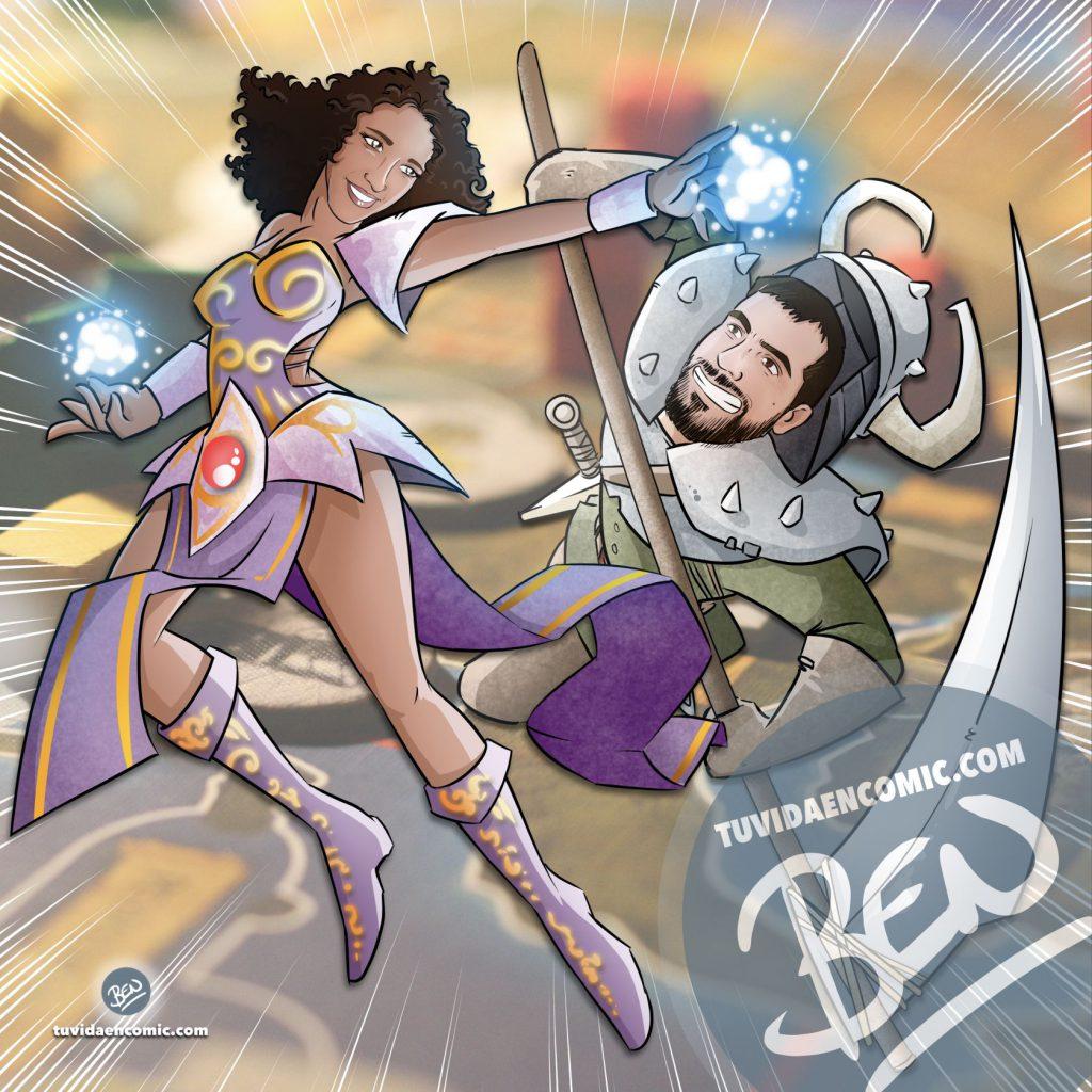 Tapete personalizado para tus juegos de mesa - Caricatura Personalizada - www.tuvidaencomic.com - Ilustración - BEN - 4