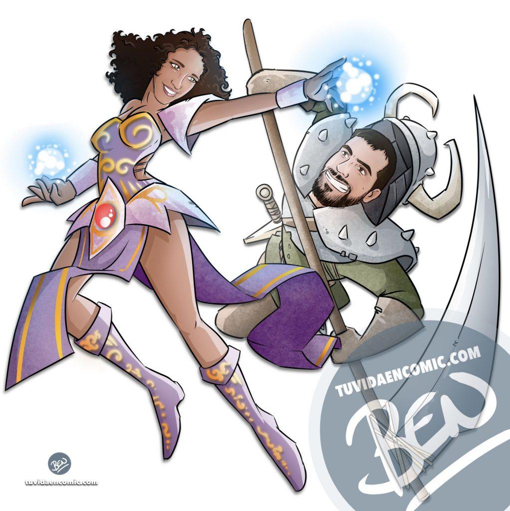 Tapete personalizado para tus juegos de mesa - Caricatura Personalizada - www.tuvidaencomic.com - Ilustración - BEN - 3