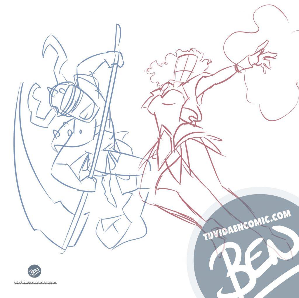 Tapete personalizado para tus juegos de mesa - Caricatura Personalizada - www.tuvidaencomic.com - Ilustración - BEN - 1