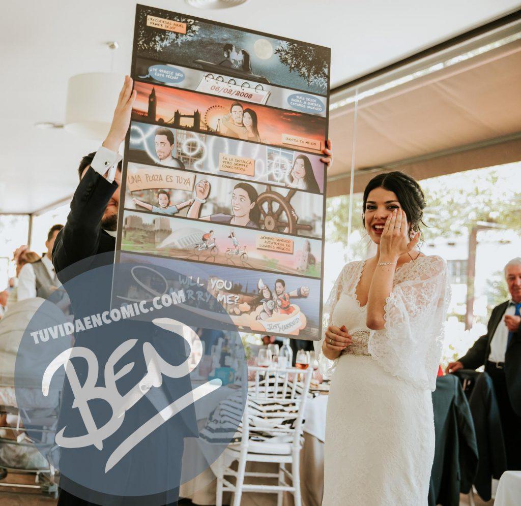 """Cómic personalizado - """"Regalo de boda con Nuestra historia de Amor en viñetas"""" - www.tuvidaencomic.com - Regalos personalizados - Bodas personalizadas - Bodas originales - Tu Vida en Cómic - TESTIMONIO 1"""